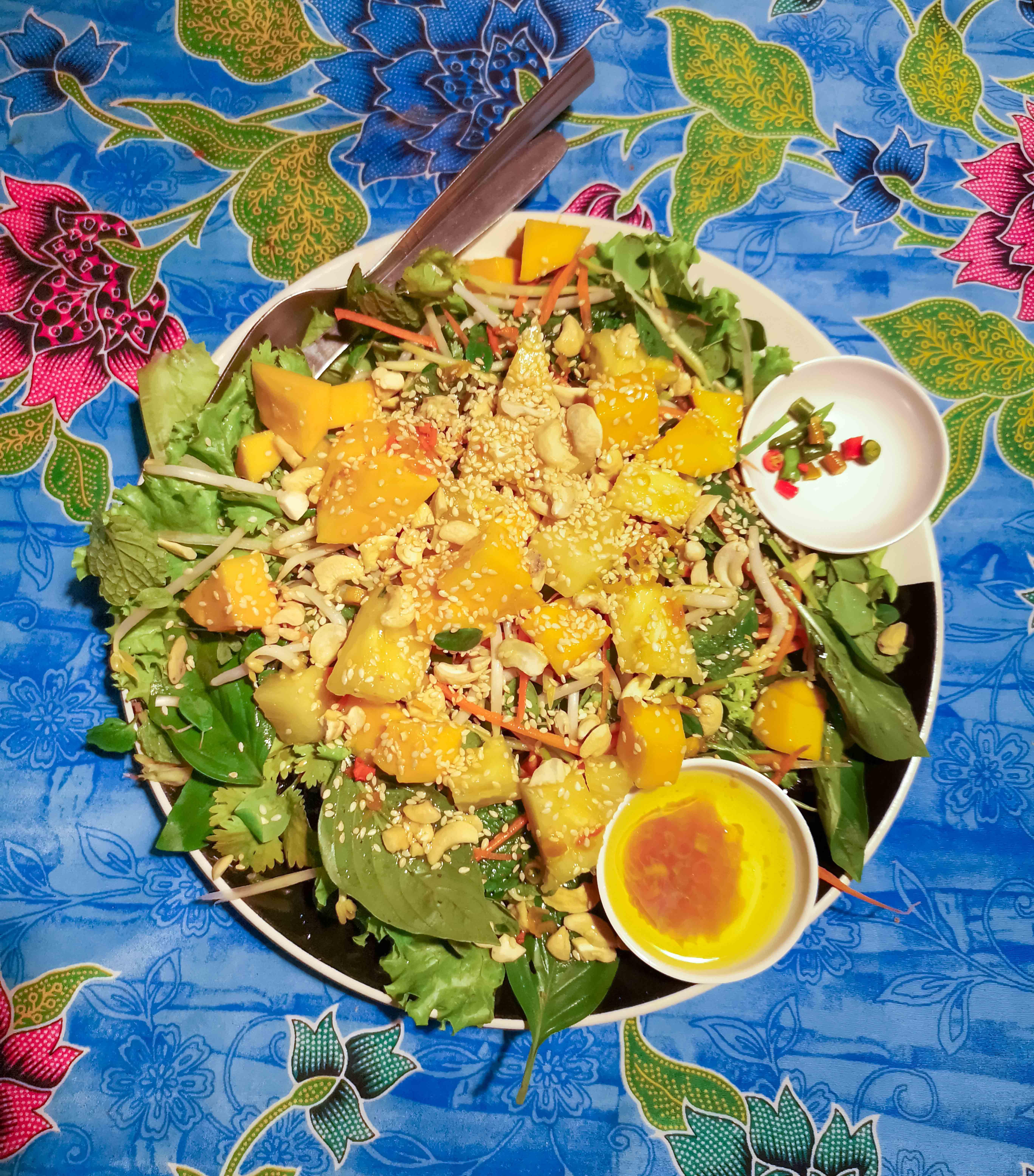 Herbal Salad, eine vegane Köstlichlkeit auf Koh Phayam