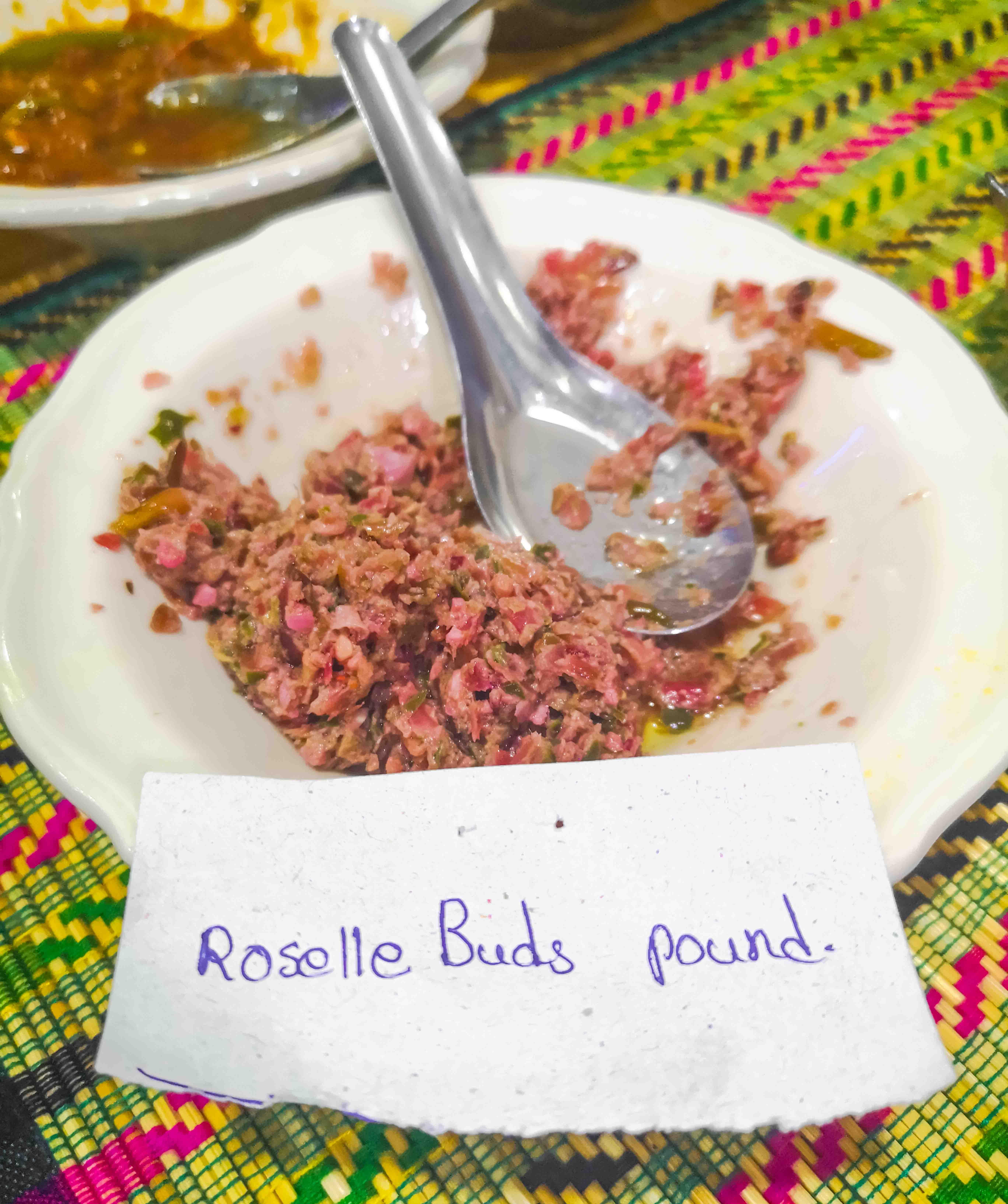 Roselle Buds Pound Aye Myit Tar , Mandalay