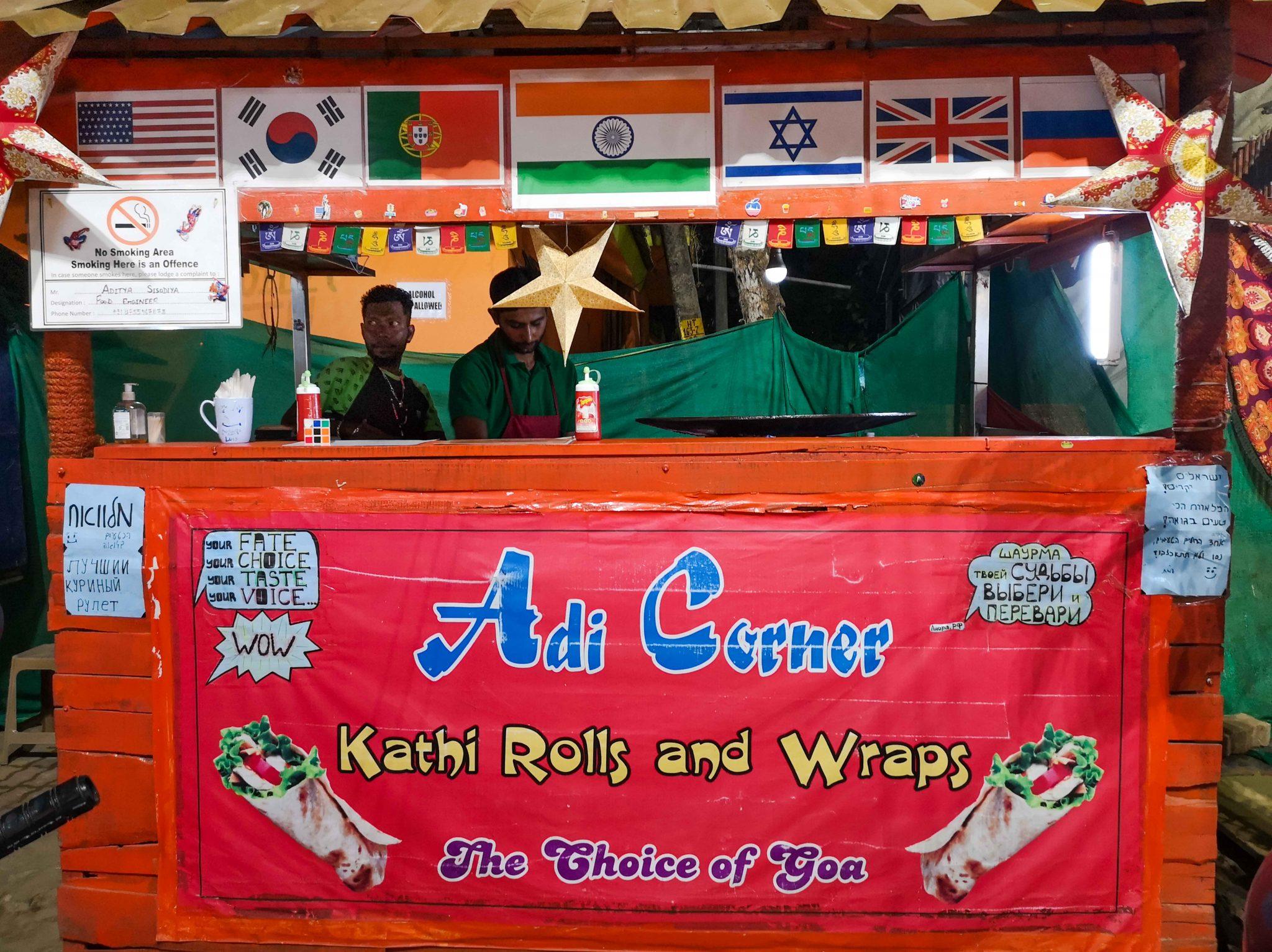 Restaurants in Goa Adi Corner