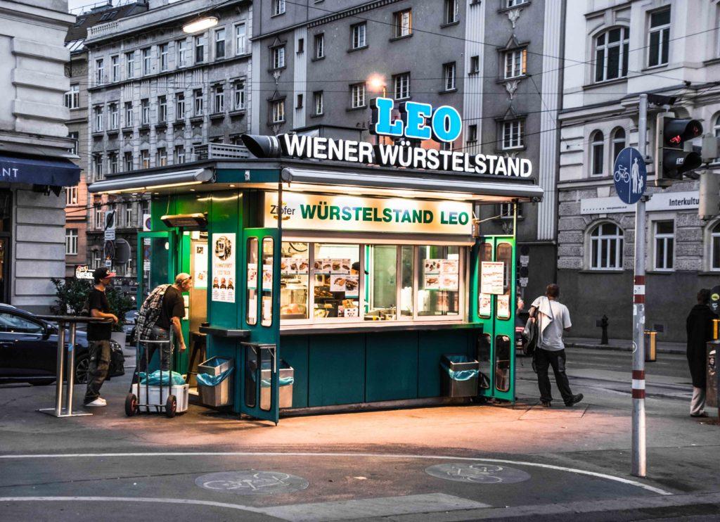 Würstelstand Wien Leo