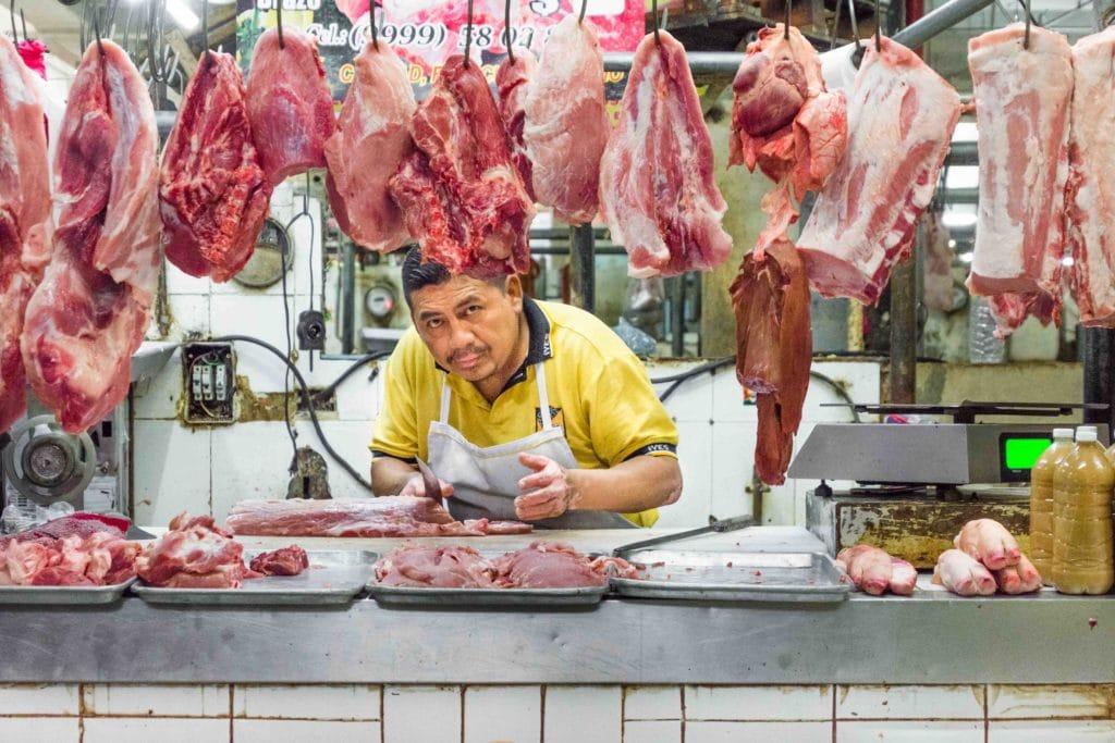 Frischfleisch in Merida