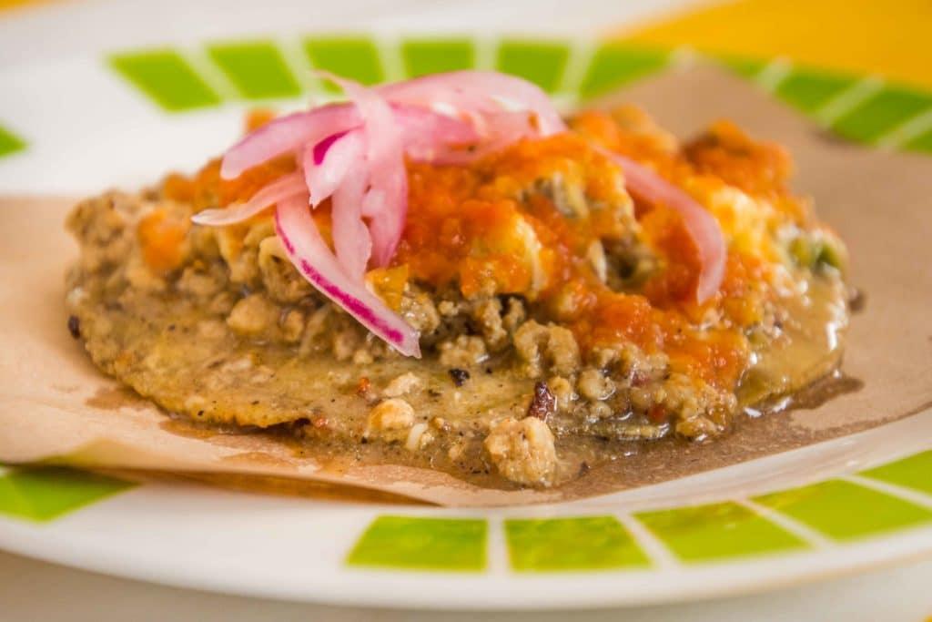 Spezialität in Merida: Taco Queso Relleno