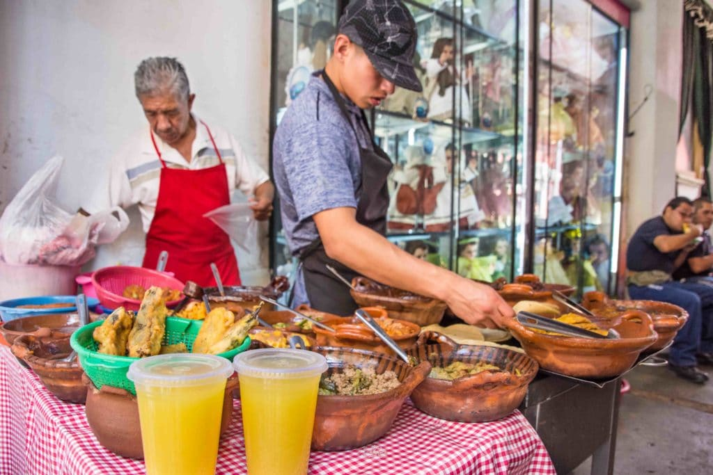 Tacos in Mexiko Stadt