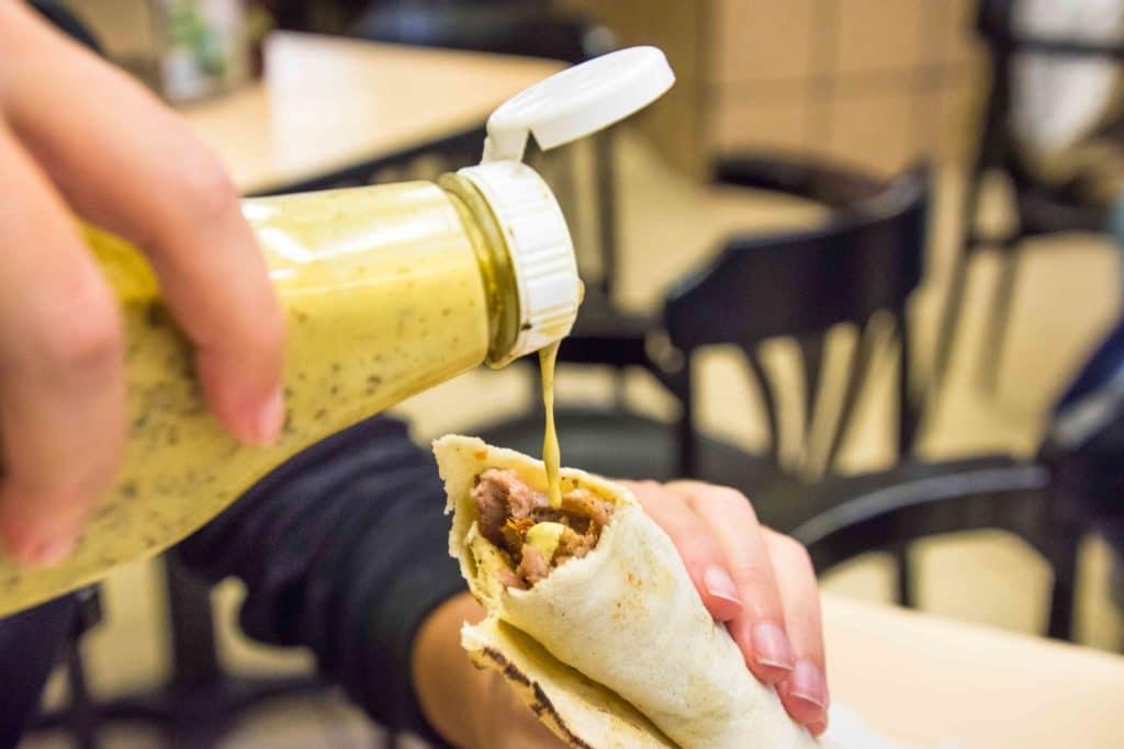 Salsa zu Taco Arabes
