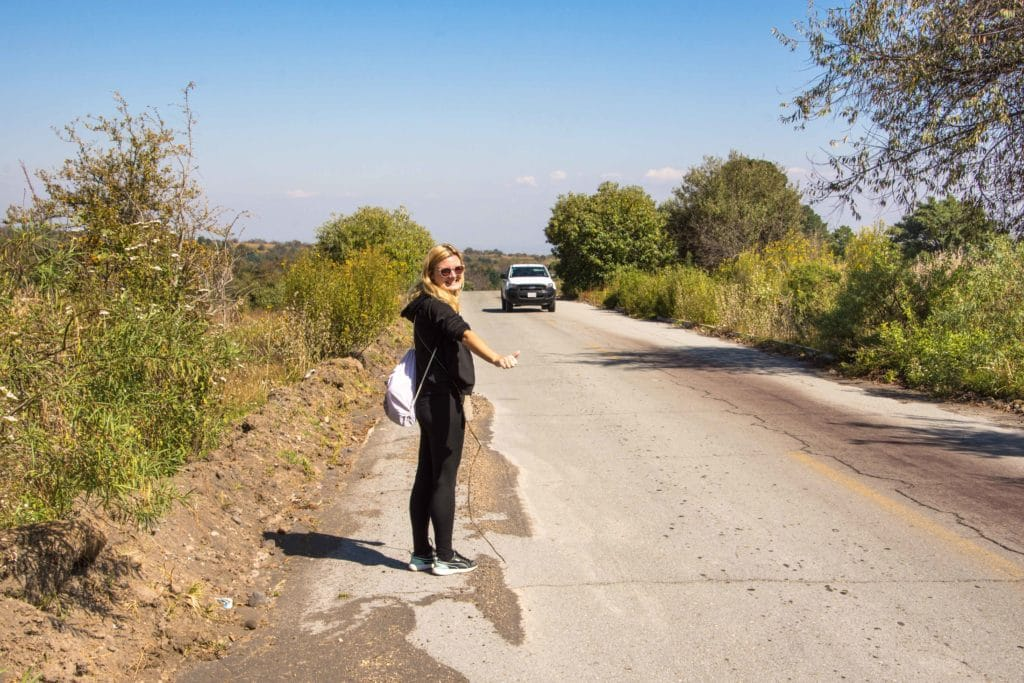 Hitchhiking in Mexiko