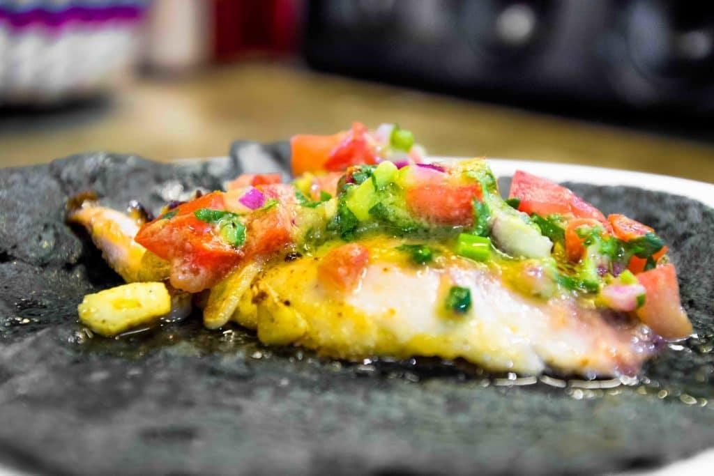 Taco pescado in Mexiko