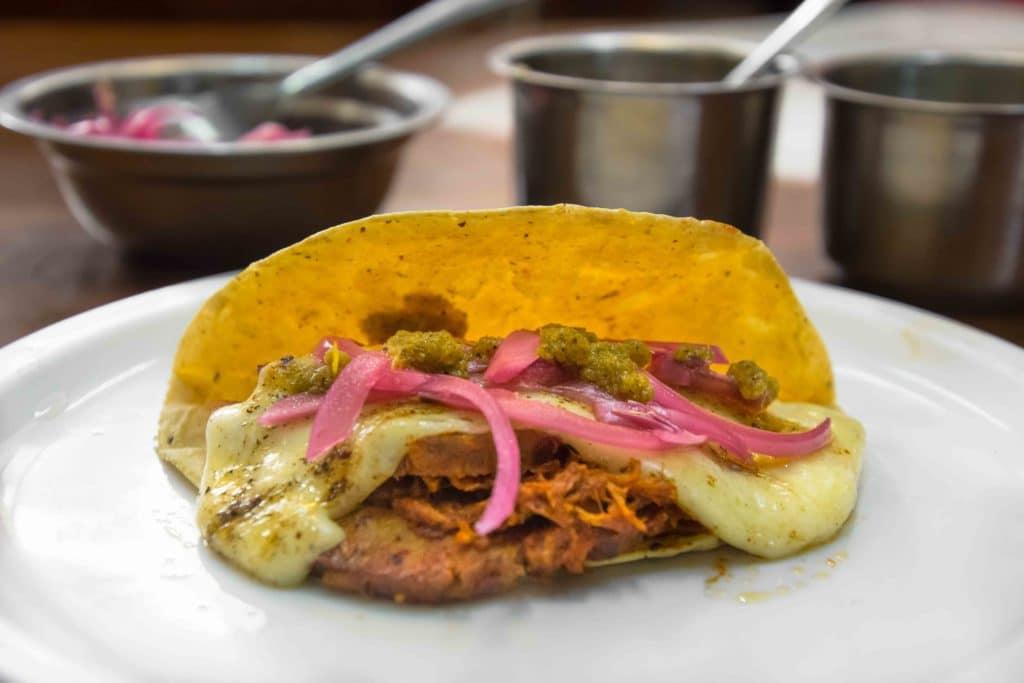 Märkte in Mexico City: Taco chamorro