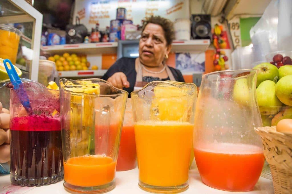 Vor dem Essen in Oaxaca: Jugo Fresca