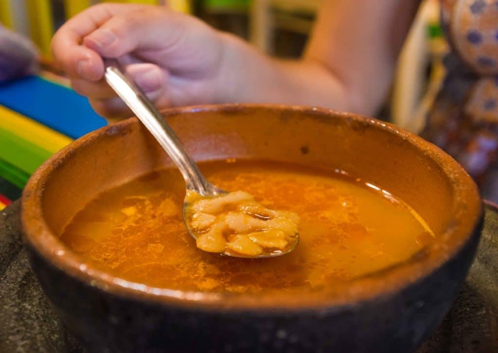Sopa Caldosa zum Essen in Oaxaca