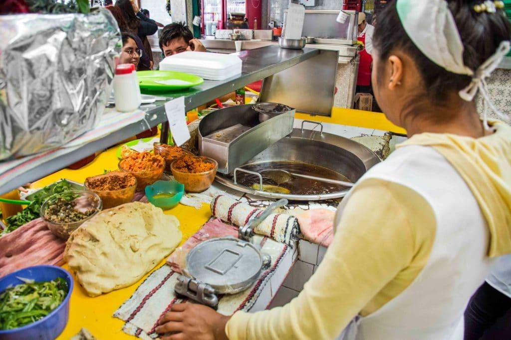Märkte in Mexico City: Quesadillas