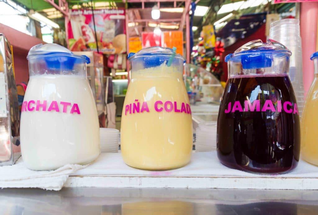 Agua Frescas in Märkten in Mexico City