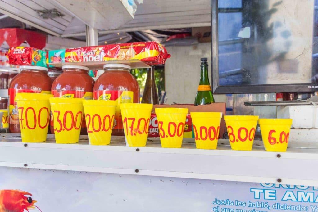 Die Preise für Essen in Cartagena