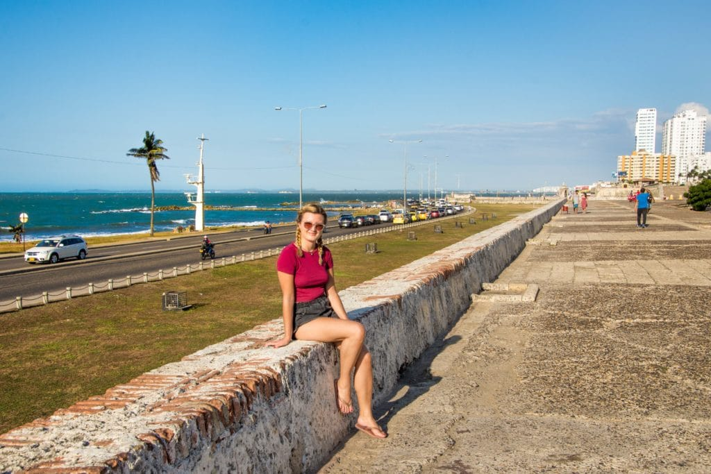 Cartagena liegt direkt an der karibischen Küste