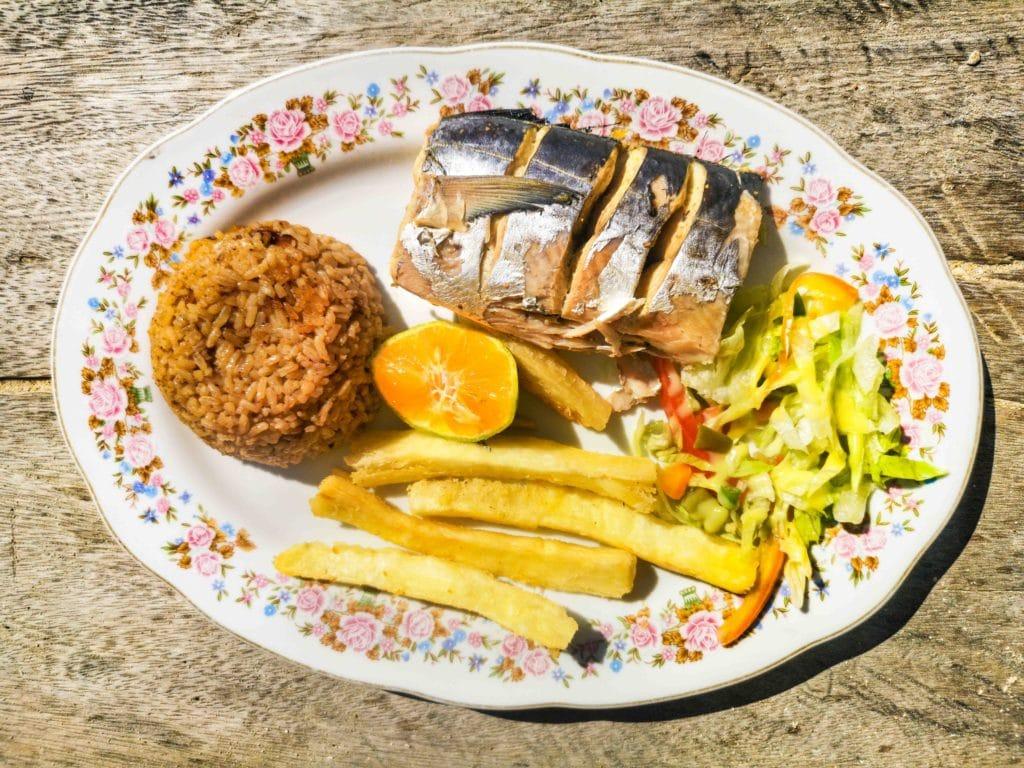 Frischer Fisch an der kolumbianischen Karibikküste