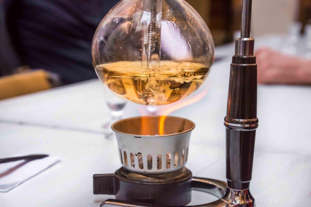 Kaffeekunst in Bogota