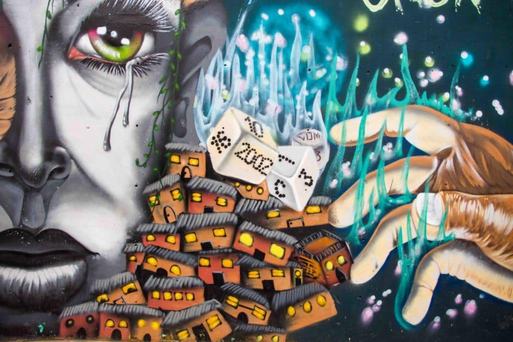 Graffiti in Medellin Comuna 13