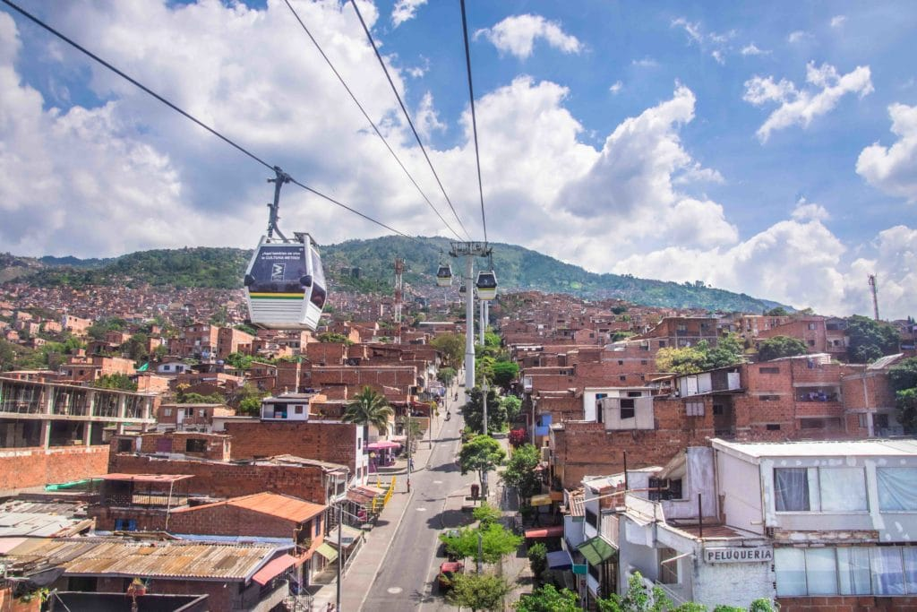 Gondel in Medellin