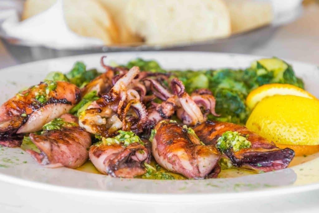 Calamari vom Grill in Kroatien