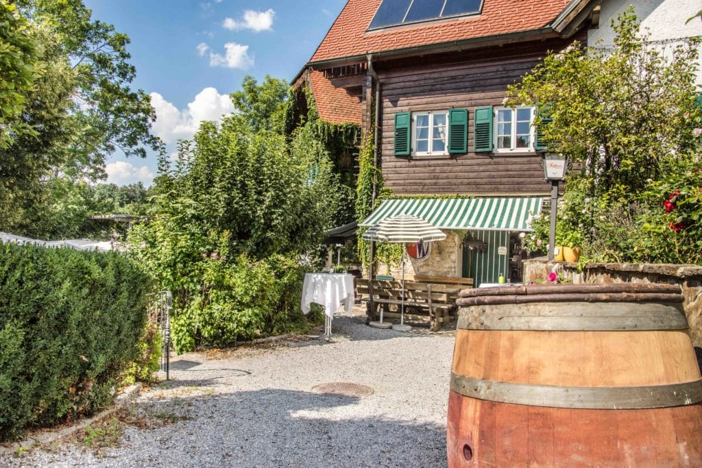 Toller Gastgarten beim Stoffbauer in Graz