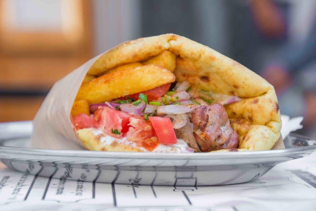 griechisches Essen als Streetfood