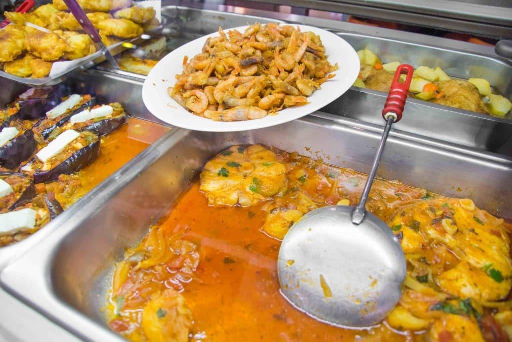 Typisches Marktrestaurant auf Kreta