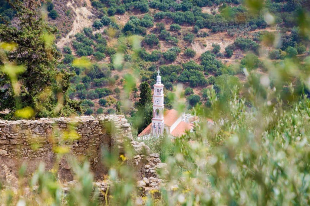 Schöne Aussicht auf Topolia
