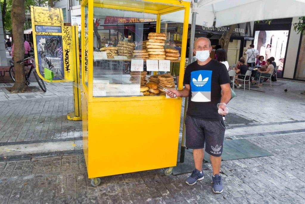 Koulouri Stand in Athen