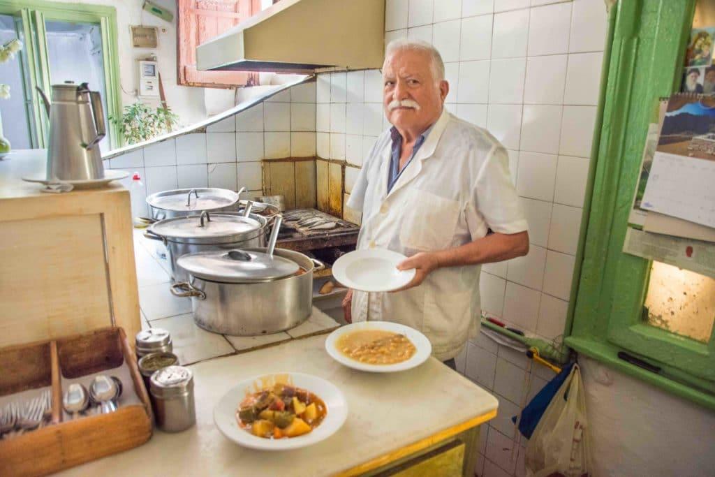 Authentisches Essen in Athen