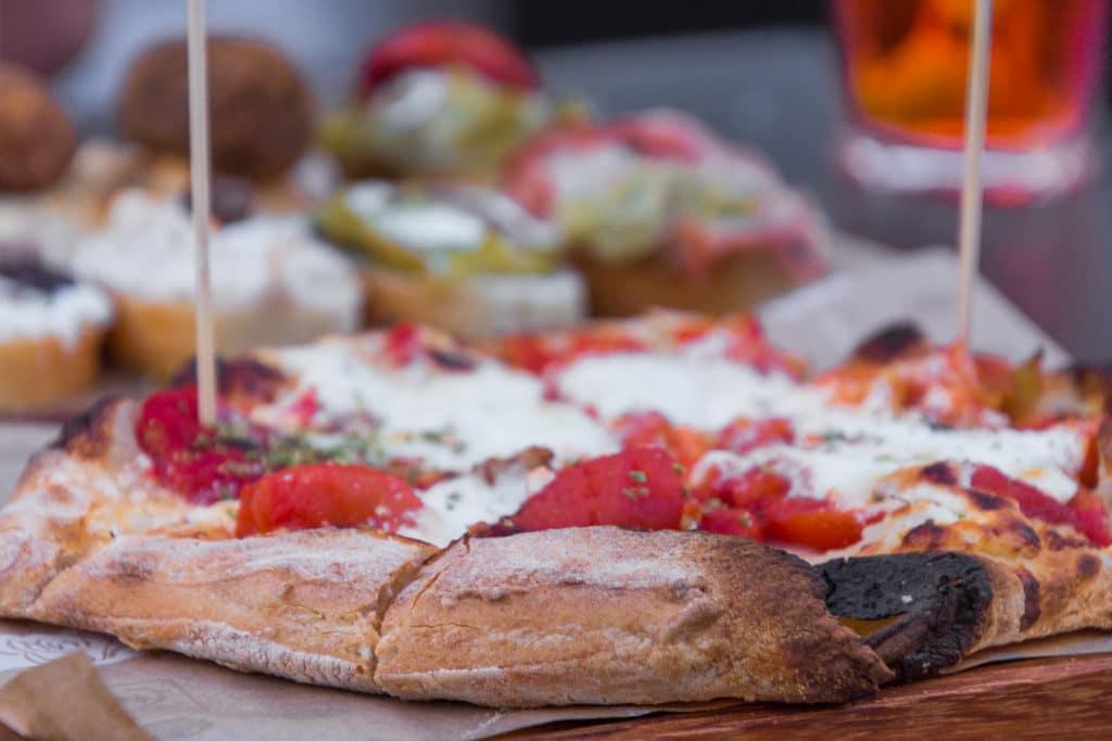 italienische Gerichte:  Pizza in Padua