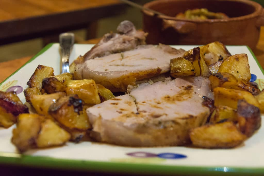 italienische Gerichte: Schweinebraten