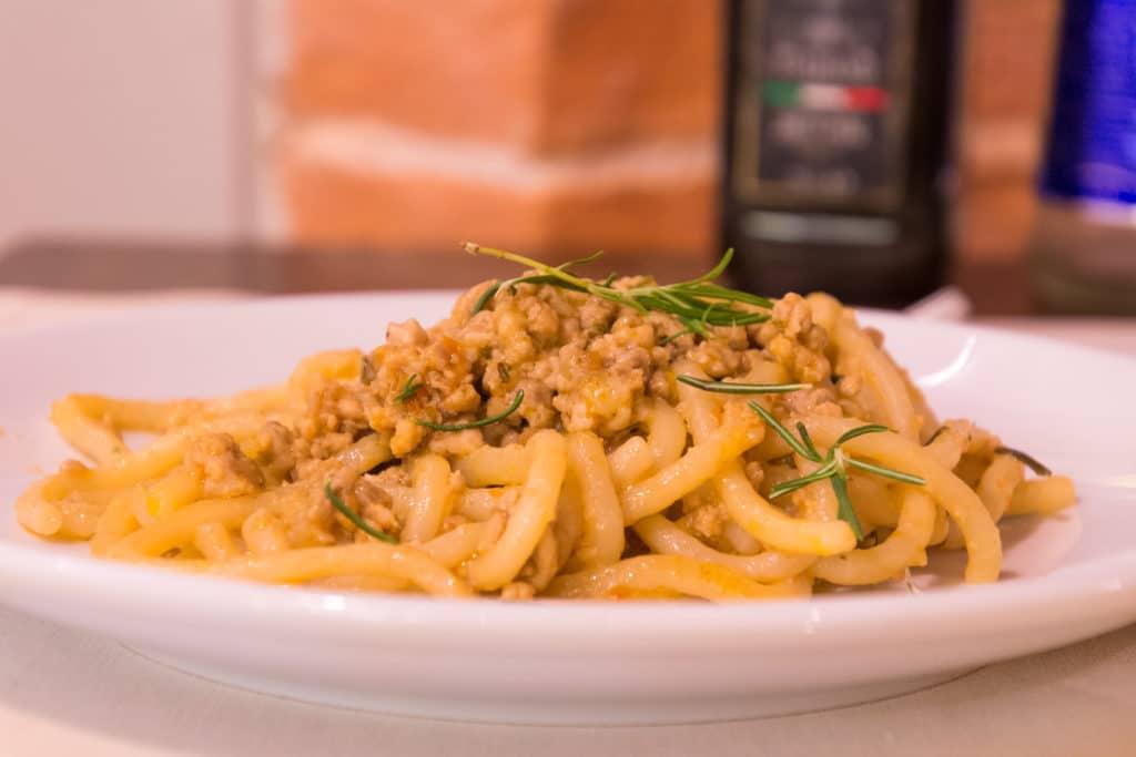 italienische Gerichte: Pici